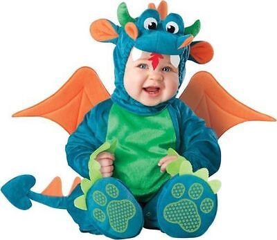 Incharacter 4pc Dinky Dragon Plush Halloween Costume- 6 /12 M Baby  NEW - Dinky Dragon