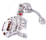Football Belly Button Rings
