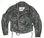 Mens Vintage Leather Jacket Small