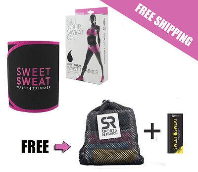 Sweet Sweat Premium Waist Trimmer Pink, for Men & Women New, Free Shipping