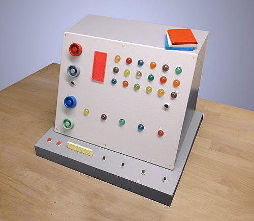 STAR TREK DESKTOP WORKING COMPUTER PROP with LIGHTS/SOUND