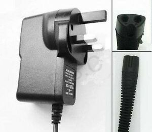 3 Pin UK Charger Power Lead for Braun Shaver Series 3 340 Series 3 350