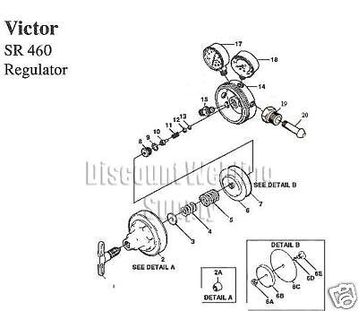 Repair Kit W Diaphragm - Victor Sr460 Acetylene Regulator 460 Rebuild Av460rkd