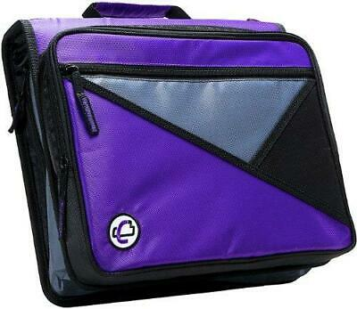 Case-it Universal 2-inch 3-ring Zipper Binder Holds 13 Inch Laptop Purple