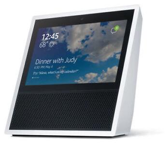 Echo Show Alexa Enabled Bluetooth Speaker 7 Screen -White - $50.00