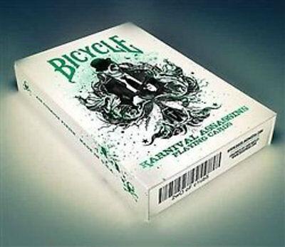 Karnival Assassins Deck - Green - Playing Cards - Magic Tricks - New