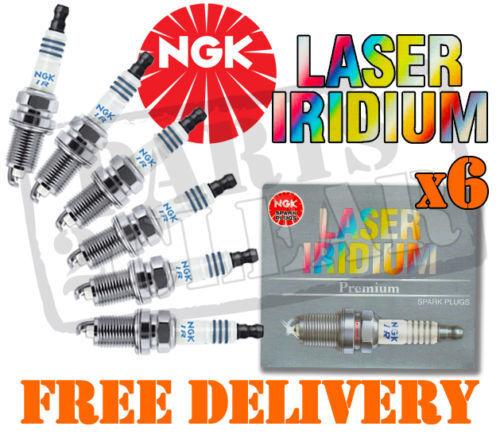 LEXUS IS200 2.0 NGK LASER IRIDIUM SPARK PLUGS x6 1999- IFR6T11  4589