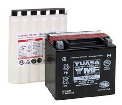 Yuasa Battery Maintenance Free Battery YTX14-BS Vespa GTS 250/GTV 250 2009