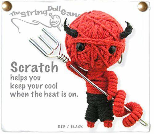 Kamibashi Scratch the Devil Original String Doll Gang Keychain Toy