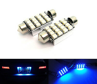 2x BLUE 16 SMD LED 6418 6411 for BMW License Plate Light Error Free Festoon Bulb
