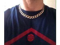 """9ct Gold Curb Chain, 61g, 17"""""""