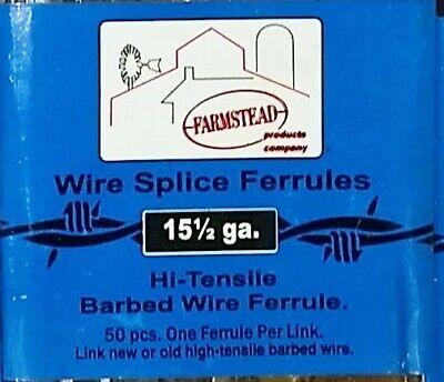 4x50200 Farmstead W.s. 350 Barbed Wire Splice Ferrules 15-12ga High Tensile