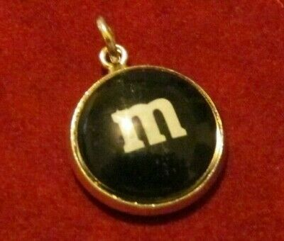 VINTAGE ? Black M & M CANDY  CHOCOLATE CUTE  SILVER  CHARM - M&m Dress Up