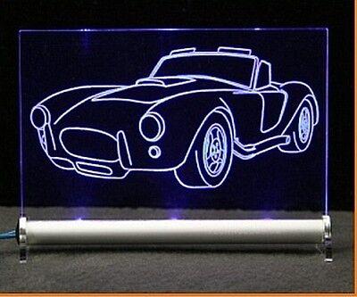 Shelby Cobra Gravur LED Schlid
