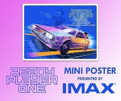 Ready Player One New Delorean Imax Exclusive Regal Poster Mini 13X19