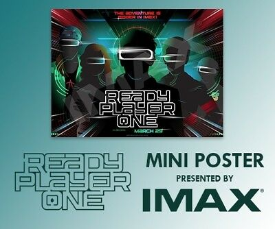 Ready Player One New  High Five  Imax Exclusive Regal Poster Mini 13X19