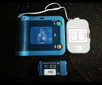 Philips Hearstart Frx Aed Defibrillator With 2 Batteries And Pads