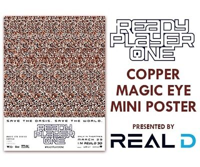 Ready Player One Magic Eye Series Copper Key Exclusive Real D Poster 18X24