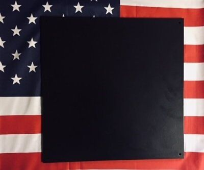 "AR500 Ballistic Steel Tile NIJ III 1/4"" thick size 16"" x 16"" Color Black Matte"
