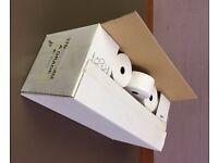 37x70 Paper Till Rolls - 1 BOX of 40 - 37mm wide x 70mm diameter