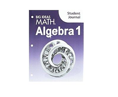 Big Ideas Math Algebra 1 Texas Edition Student Journal Brand New