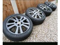 Vauxhall Alloy Wheels & Tyres 5 Stud Anthracite Grey Delivery Available