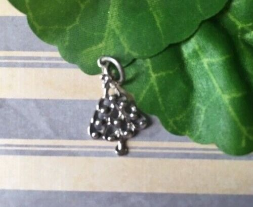 Sterling Silver Christmas Tree with ornaments Charm NEW