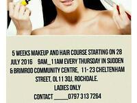 Makeup, hair,Threading and Nail art course