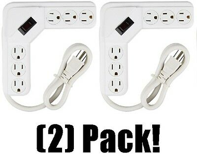 Master Electrician PS-644 White 6 Outlet Power Strip