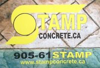STAMP CONCRETE BOOKING ALL JOBS NOW 9056178267