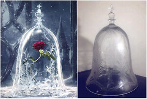Beauty and the Beast Enchanted Rose Glass/Crystal Dome