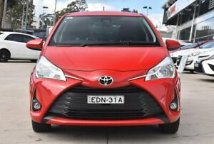2019 Toyota Yaris NCP131R SX Red 4 Speed Automatic Hatchback Castle Hill The Hills District Preview
