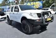 2007 Nissan Navara D40 RX White Manual Utility Campbelltown Campbelltown Area Preview