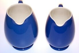 GORGEOUS PAIR OF FINE MOORCROFT POWDER BLUE JUGS MADE FOR LIBERTY c1940's MADE ENG MINT CONDITION