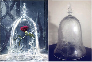 Beauty and the Beast Enchanted Glass/Crystal Dome