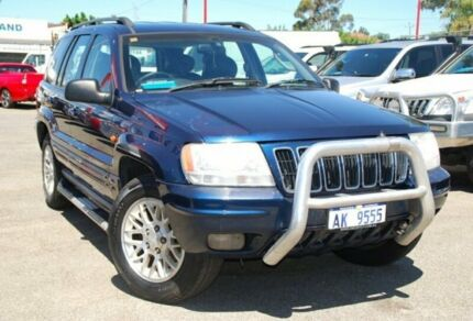 2003 Jeep Grand Cherokee WG MY2002 Limited Blue 5 Speed Automatic Wagon