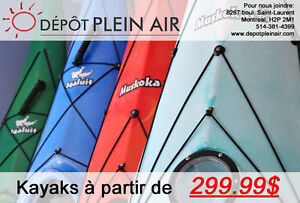 KAYAKS,SUP,PLANCHES A RAME,CANOT,NEUFS EN SOLDES!! KAYAKDEPOT.CA