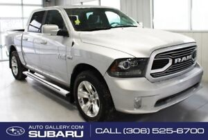 2018 Ram 1500 SPORT | LEATHER TRIMED SEATS | 8.4 INCH U-CONNECT
