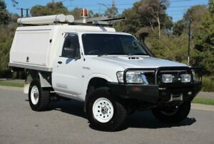 2013 Nissan Patrol Y61 GU 6 SII MY13 DX White 5 Speed Manual Cab Chassis Officer Cardinia Area Preview