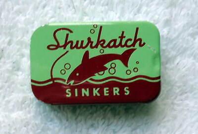 Ex, Vintage Shurkatch Splitshot Sinker Tin