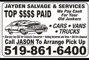 $Top Dollar Paid for your Retired Rides,Old Junkers,Farm Trucks$