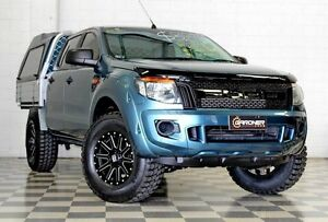 2013 Ford Ranger PX XL 2.2 HI-Rider (4x2) Blue 6 Speed Automatic Crew C/Chas Burleigh Heads Gold Coast South Preview