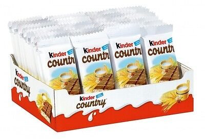 40 x Ferrero Kinder Country of crunchy cereals chocolate New from Germany ()