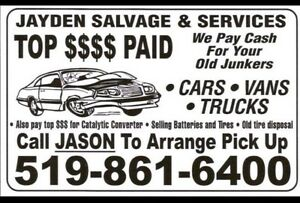 $Top Dollar Paid for your Retired Rides,Old Junkers,FarmTrucks$