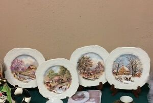 Assietes Décorative -Four Season Collector Plates/ Vintage Item