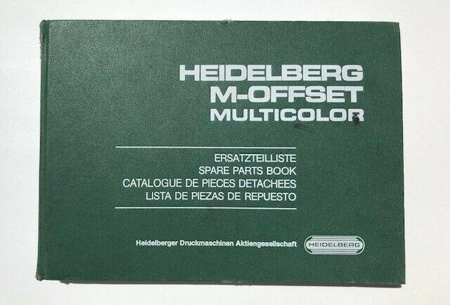 Original Heidelberg M-Offset Spare Parts Book- MOZ - MOZP - MOV - MOVP