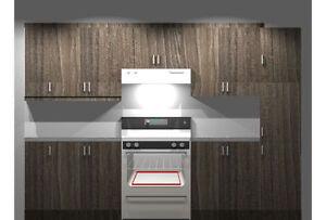 Armoire de cuisine neuve, en forme de Corridor 10 pied+10 pied.