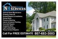 Northern Handyman Services - Home Improvements and Repairs