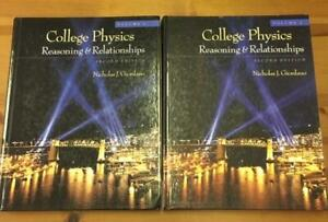College Physics, General Chemistry and Calculus books