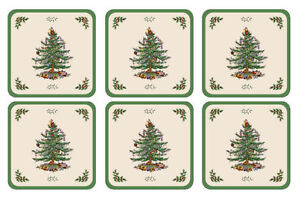 Pimpernel For Spode Christmas Tree Coasters, Cork Base, Qty 6 Kitchener / Waterloo Kitchener Area image 2